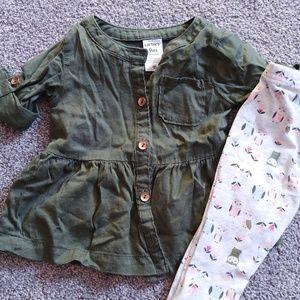 Cute baby girl matching set